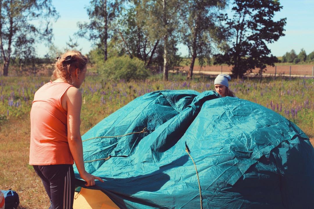 Установка палаток  Leto Opening festival 2016 Шанти Дом